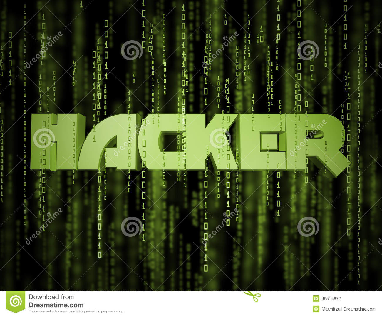 3D Hacker Matrix Stock Illustration - Image: 49514672