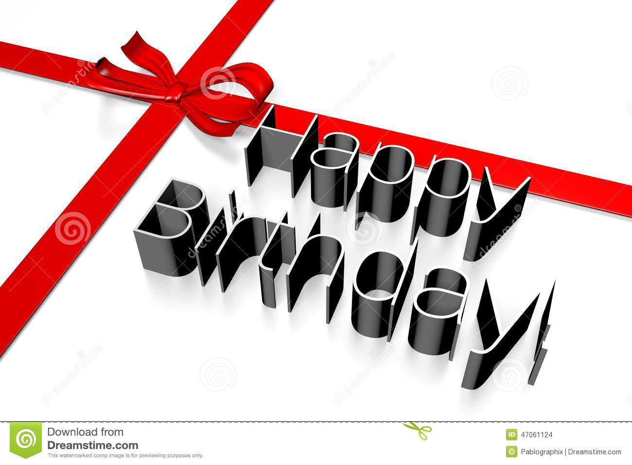 Stock Images: 3D HAPPY BIRTHDAY card... Image: 47061124