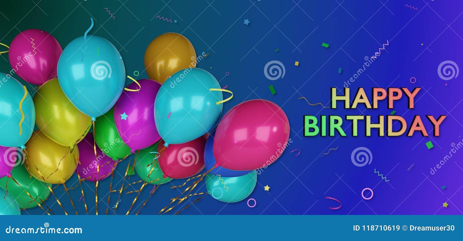 3d happy birthday greetings card stock illustration illustration 3d happy birthday greetings card m4hsunfo