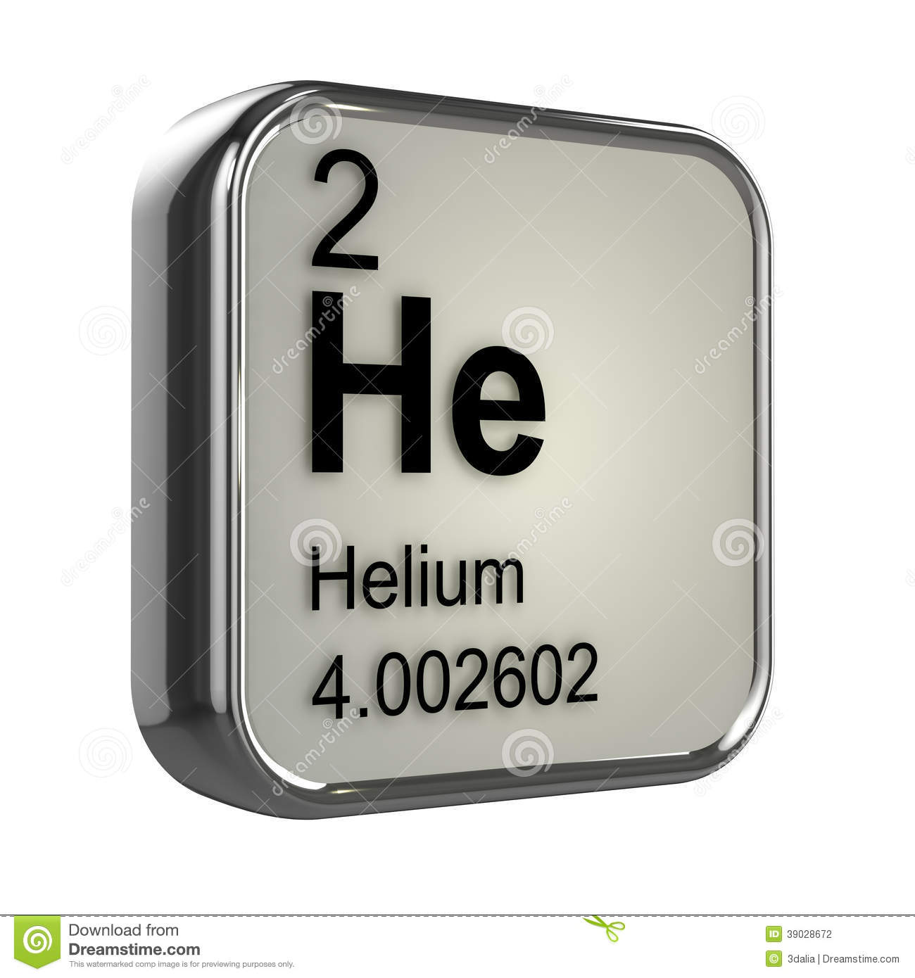 Helium big on periodic table of the elements with atomic number 3d helium element stock photography gamestrikefo Images
