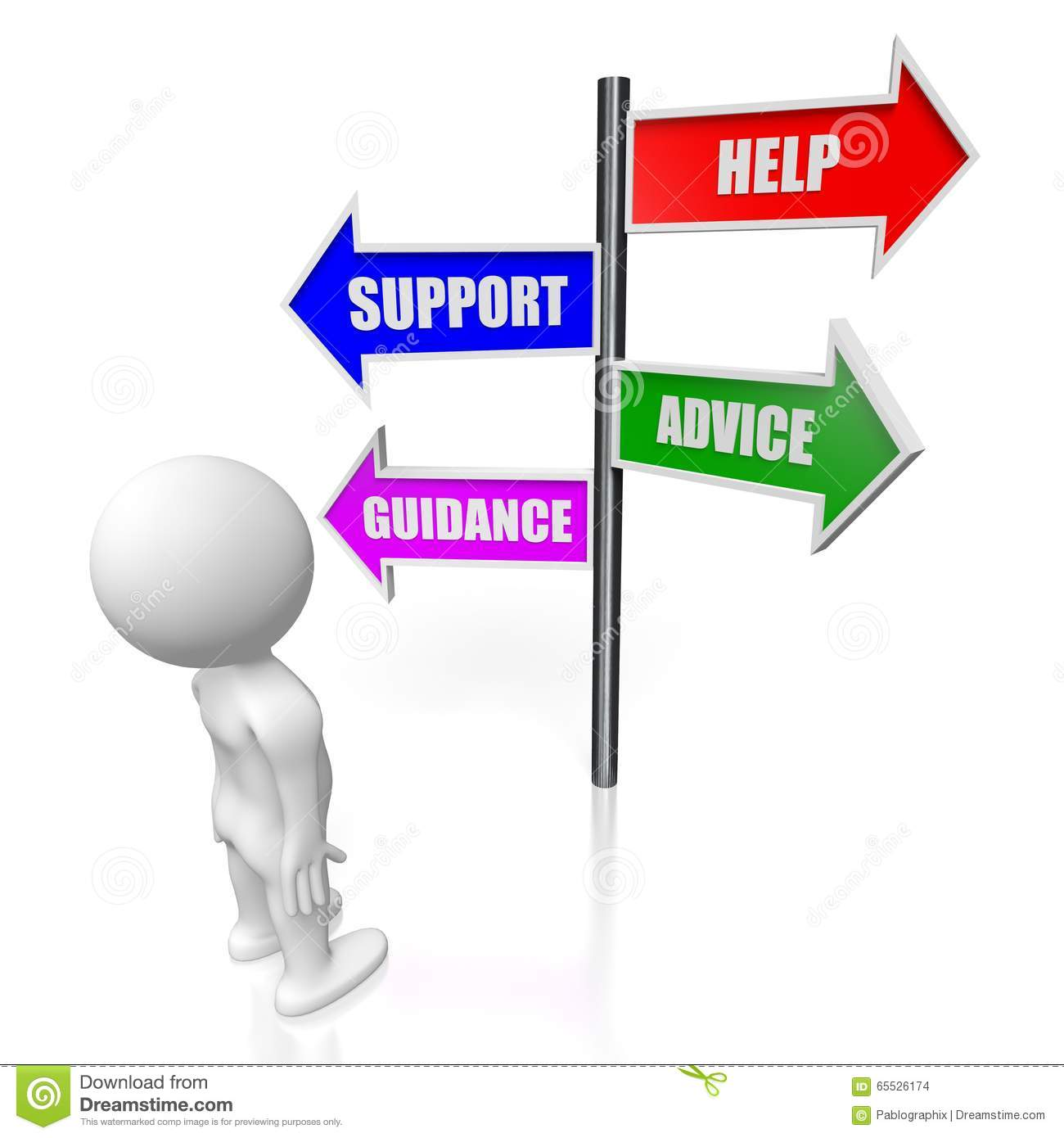 3d help  support  advice  guidance concept stock stick person thinking clipart stick person thinking clipart