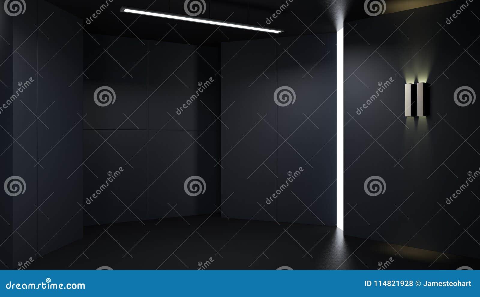 D het teruggeven minimalistische en moderne ruimte van de
