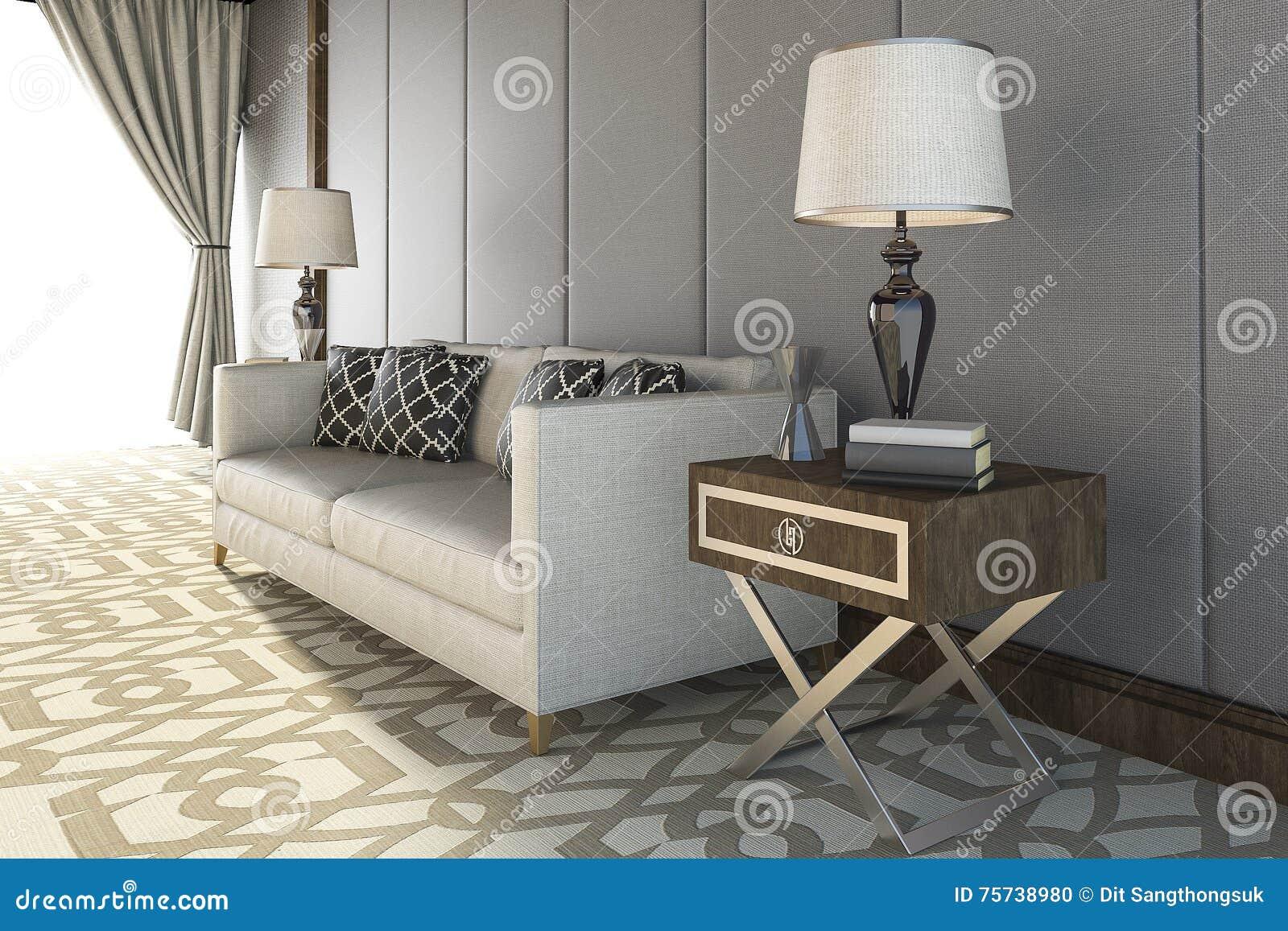 Tapijt In Woonkamer : D het teruggeven mooie witte bank met aardig tapijt in woonkamer