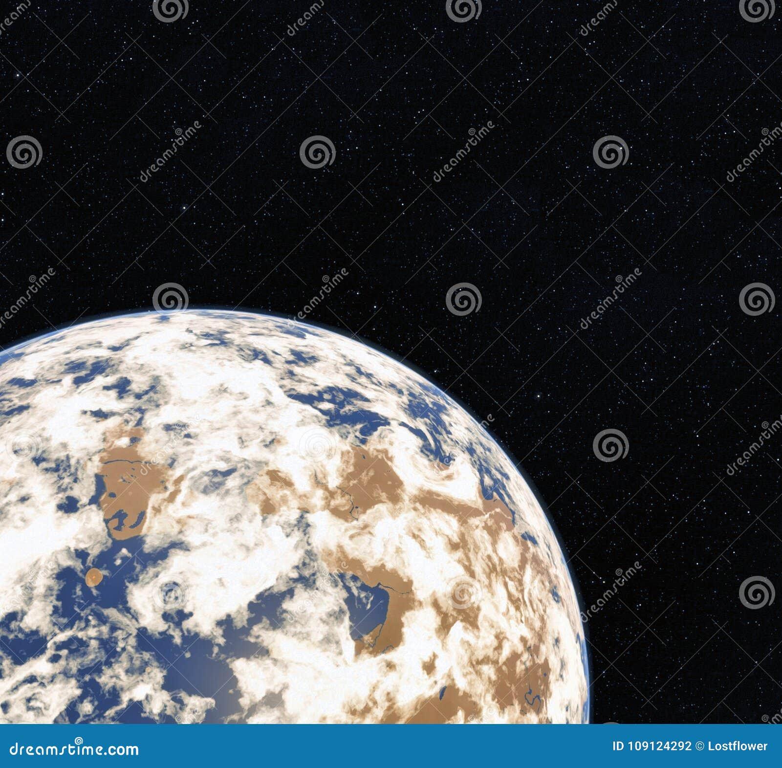 3D het Teruggeven Wereldbol van Ruimte Aarde Mening van Aarde van ruimte Elementen van dit die beeld door NASA wordt geleverd