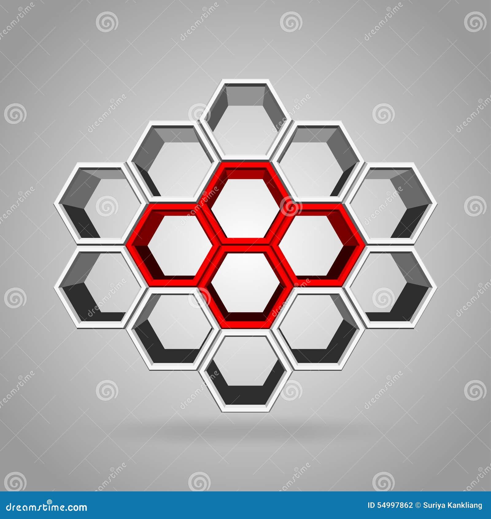 3d hexagon pattern stock vector image 54997696 - 3d Hexagon Pattern Stock Photography