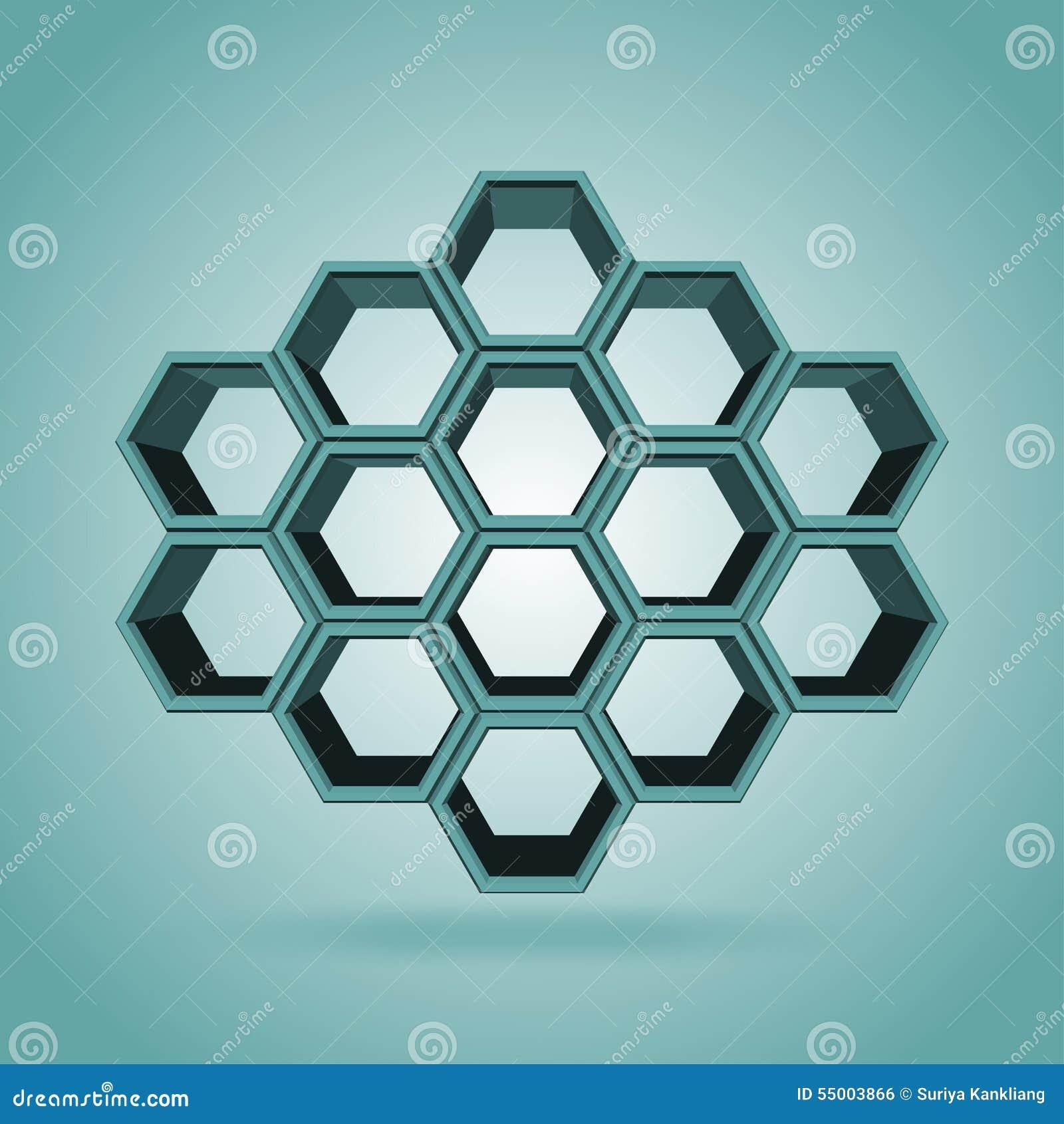 3d hexagon pattern stock vector image 54997696 - 3d Hexagon Pattern Royalty Free Stock Image