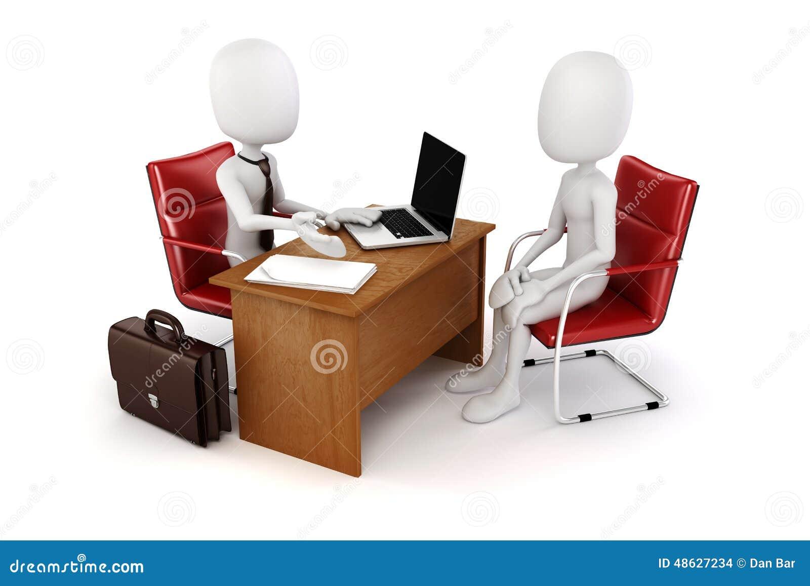 3d hombre, reunión de negocios, entrevista de trabajo