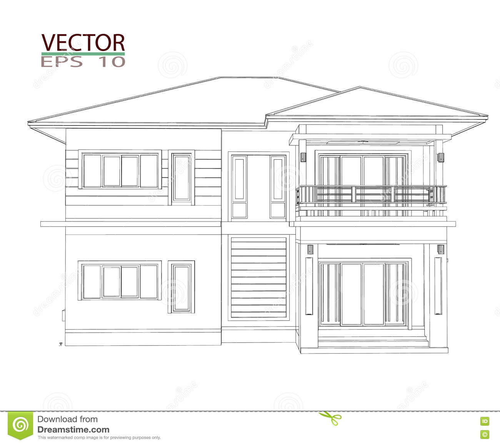3D Home Design Stock Illustration. Illustration Of Modern