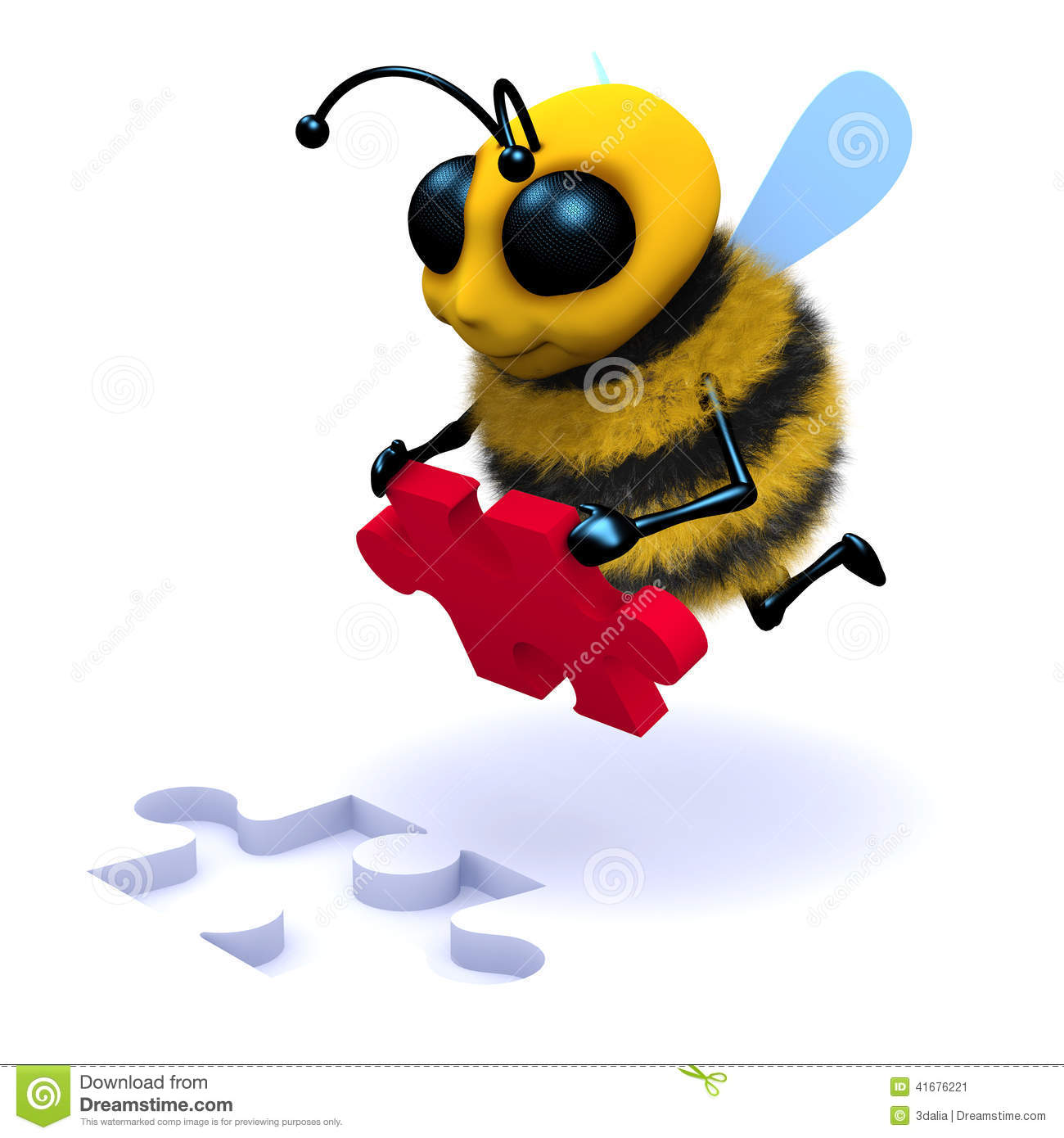 3d honey bee puzzle solver stock illustration illustration of