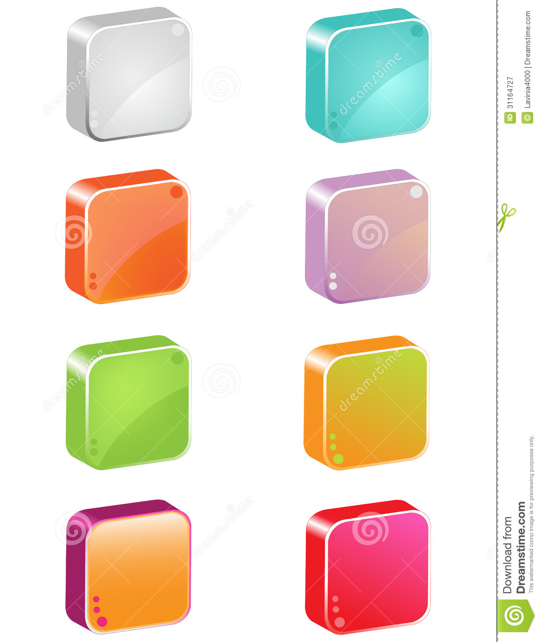 3d Icon Buttons Royalty Free Stock Photography