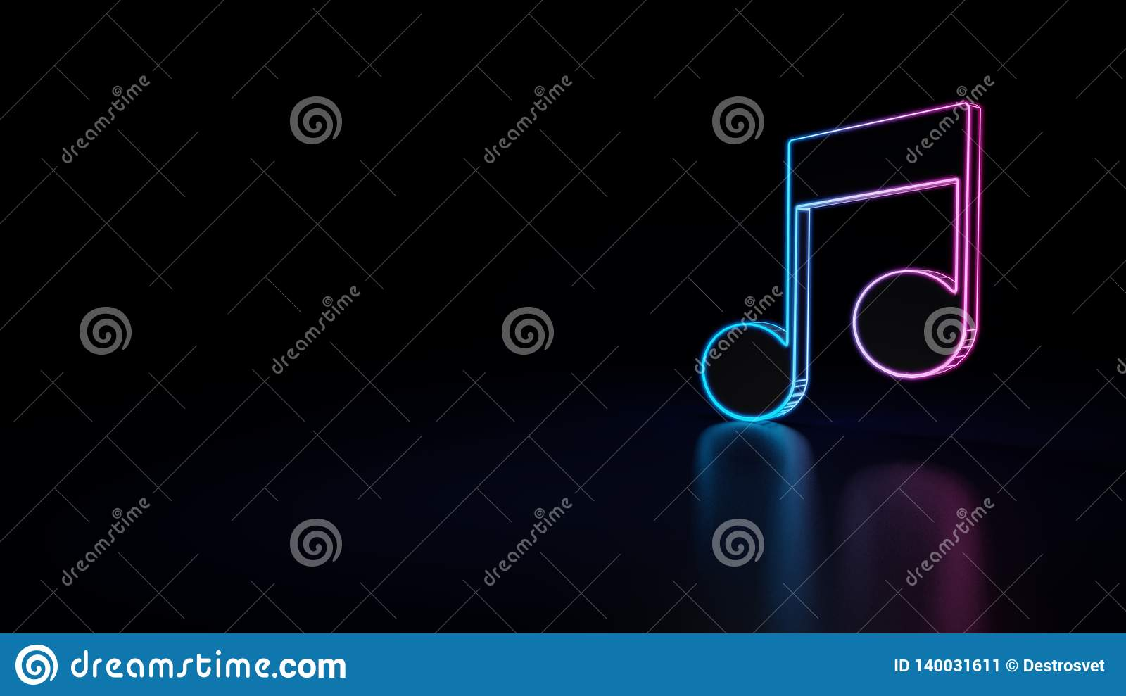 3d icon of music player stock illustration  Illustration of