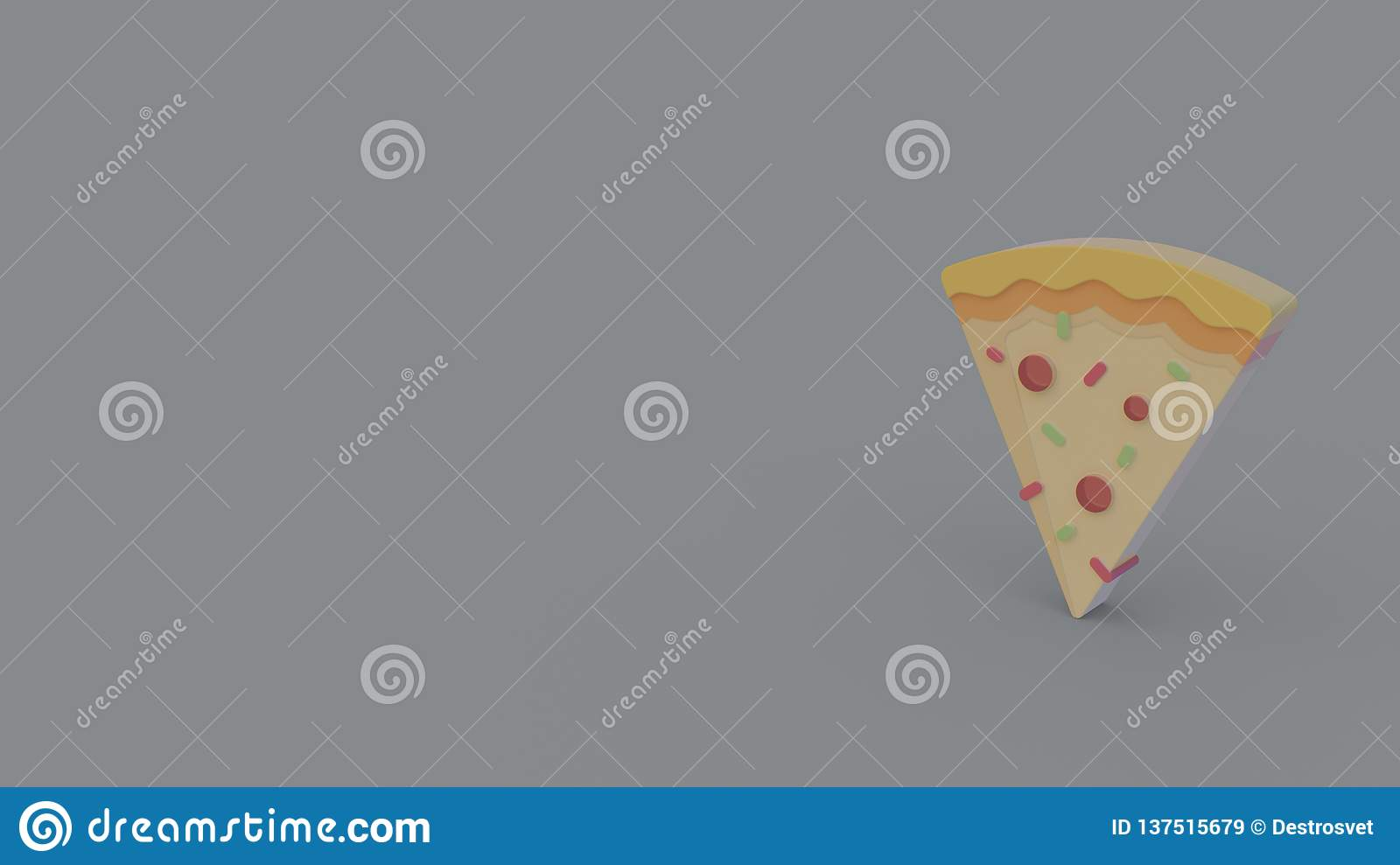 3d icon of pizza