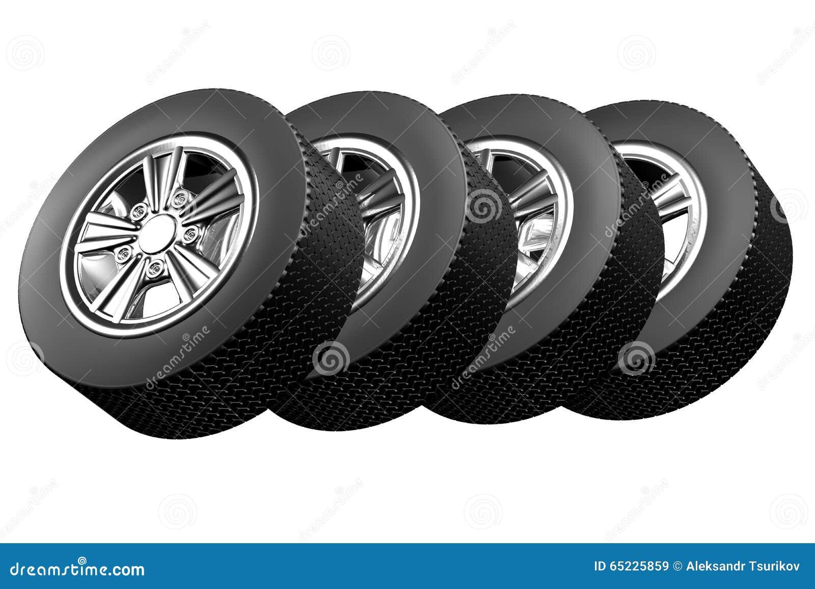 3d ikony sporta samochodowi koła