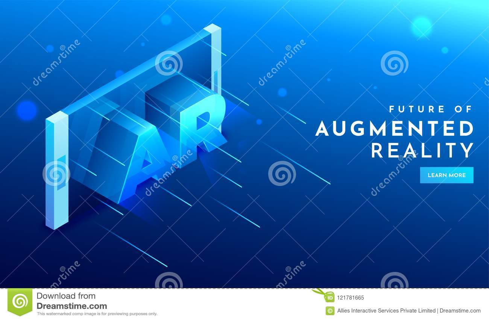 3D il testo AR sullo smartphone scherma per la tecnologia futuristica Augmen