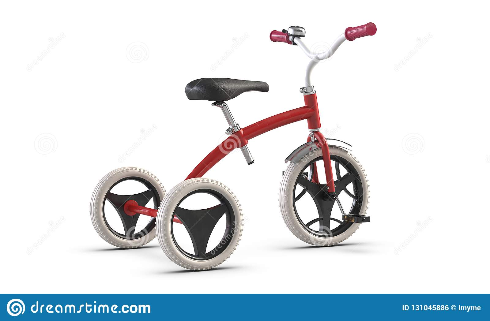 3d Illustrate Of Children S Tricycle Pink Bicycle Isolated On White Background Stock Illustration Illustration Of Pursuit Antique 131045886