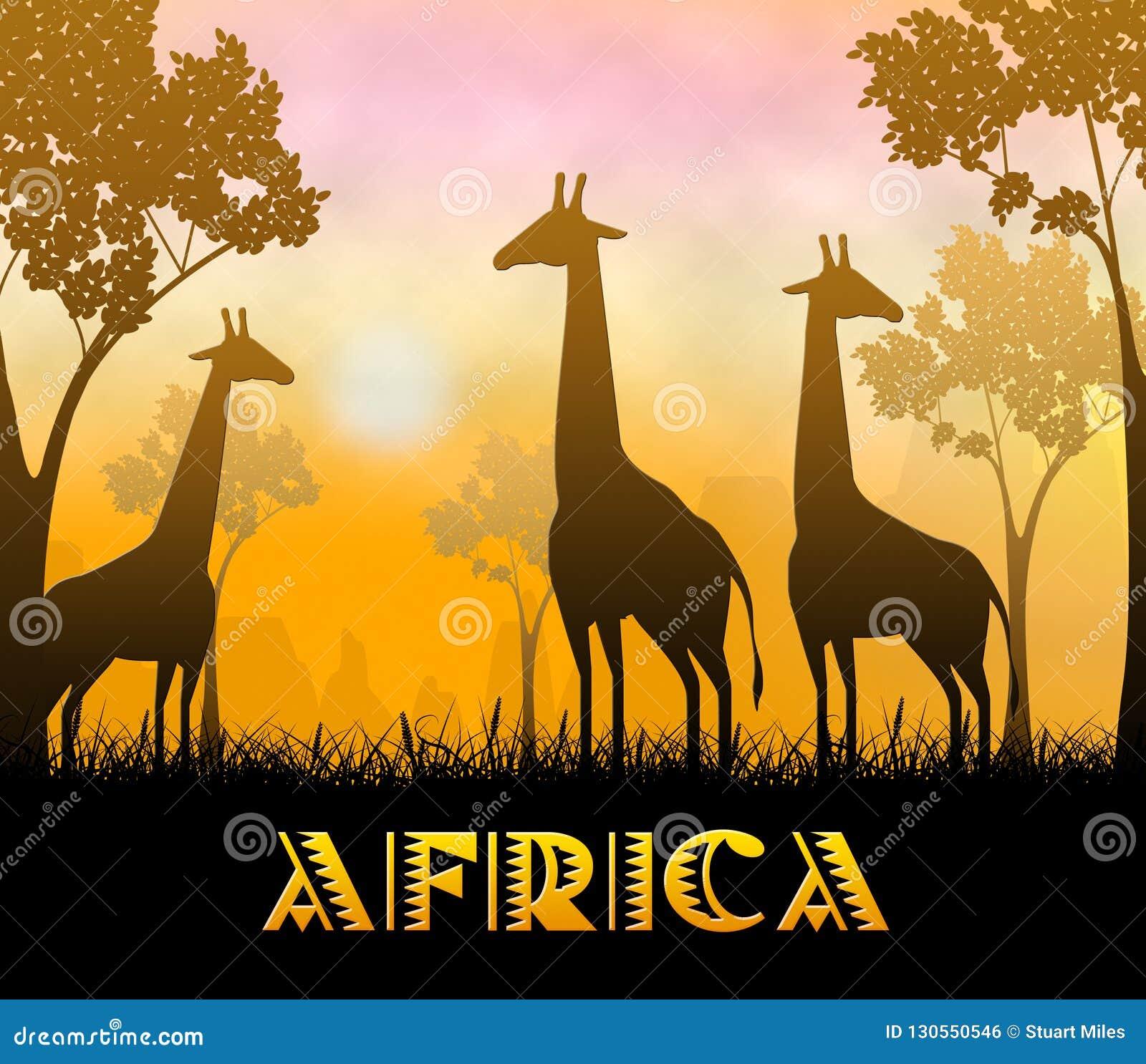 3d Illustratie van Afrika Safari Showing Wildlife Reserve