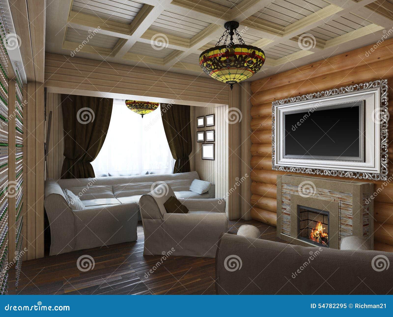 3d illustratie van binnenlands ontwerp van een slaapkamer in het