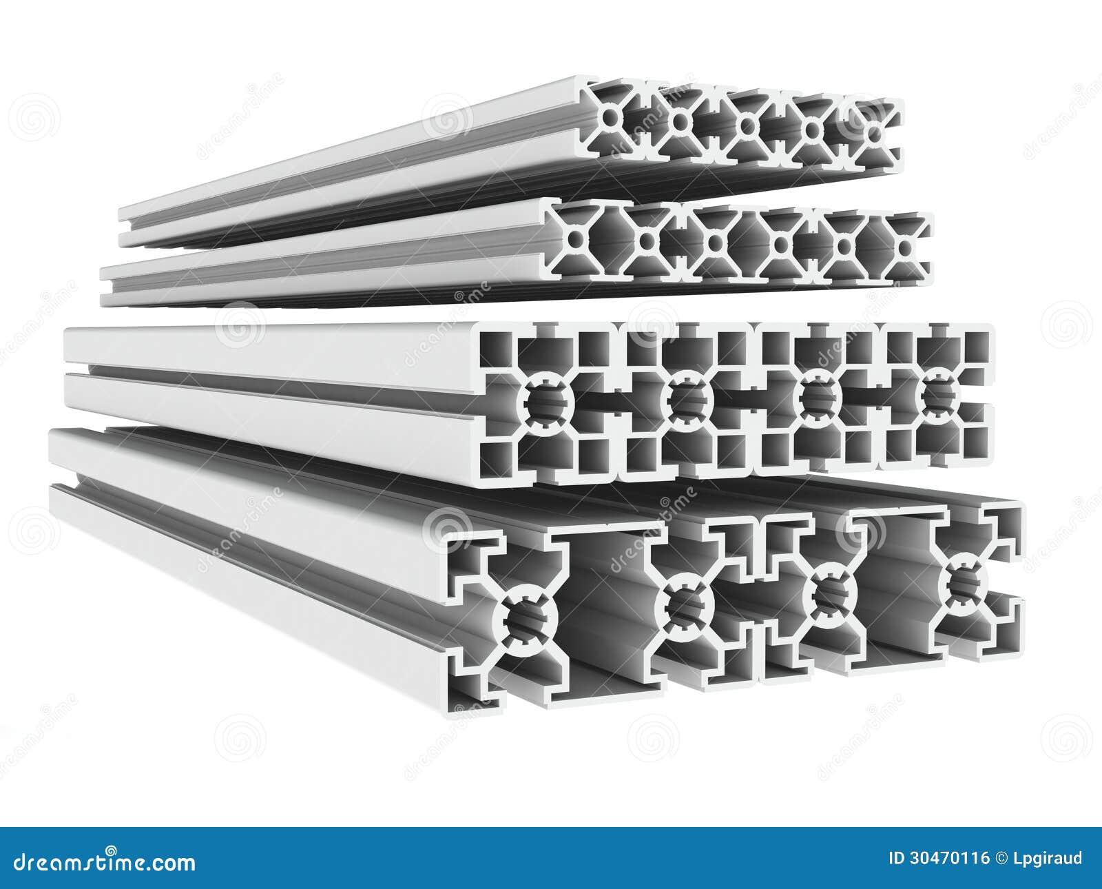 De profielen van het metaal