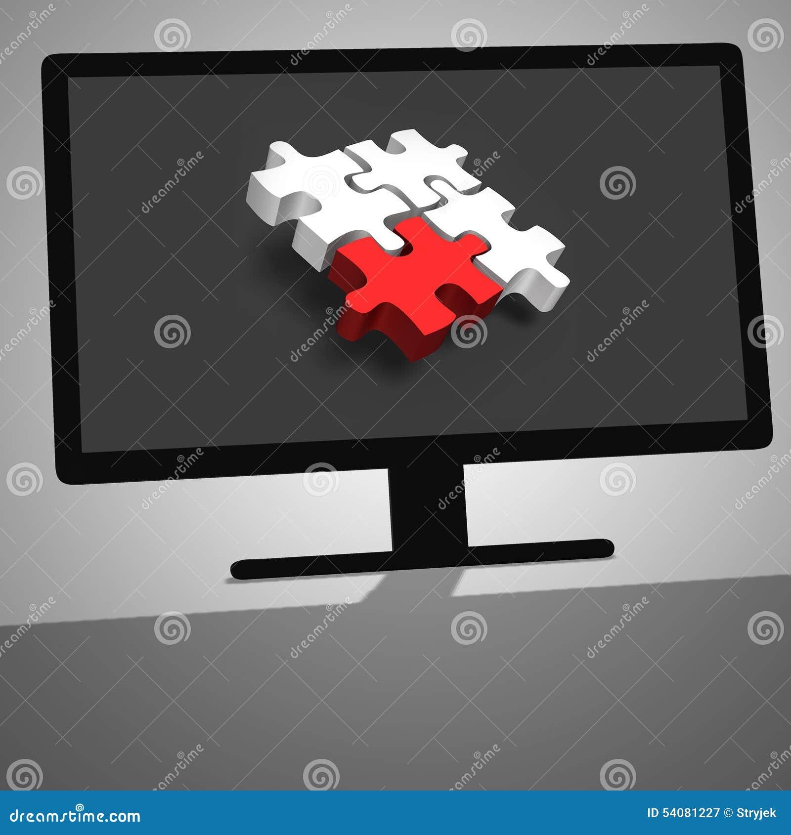 3d illustratie van zwarte bureaucomputer