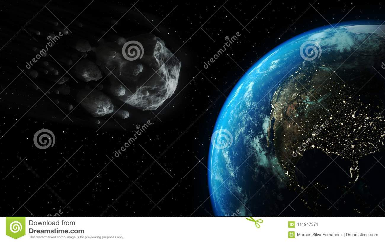 impact asteroid 3d