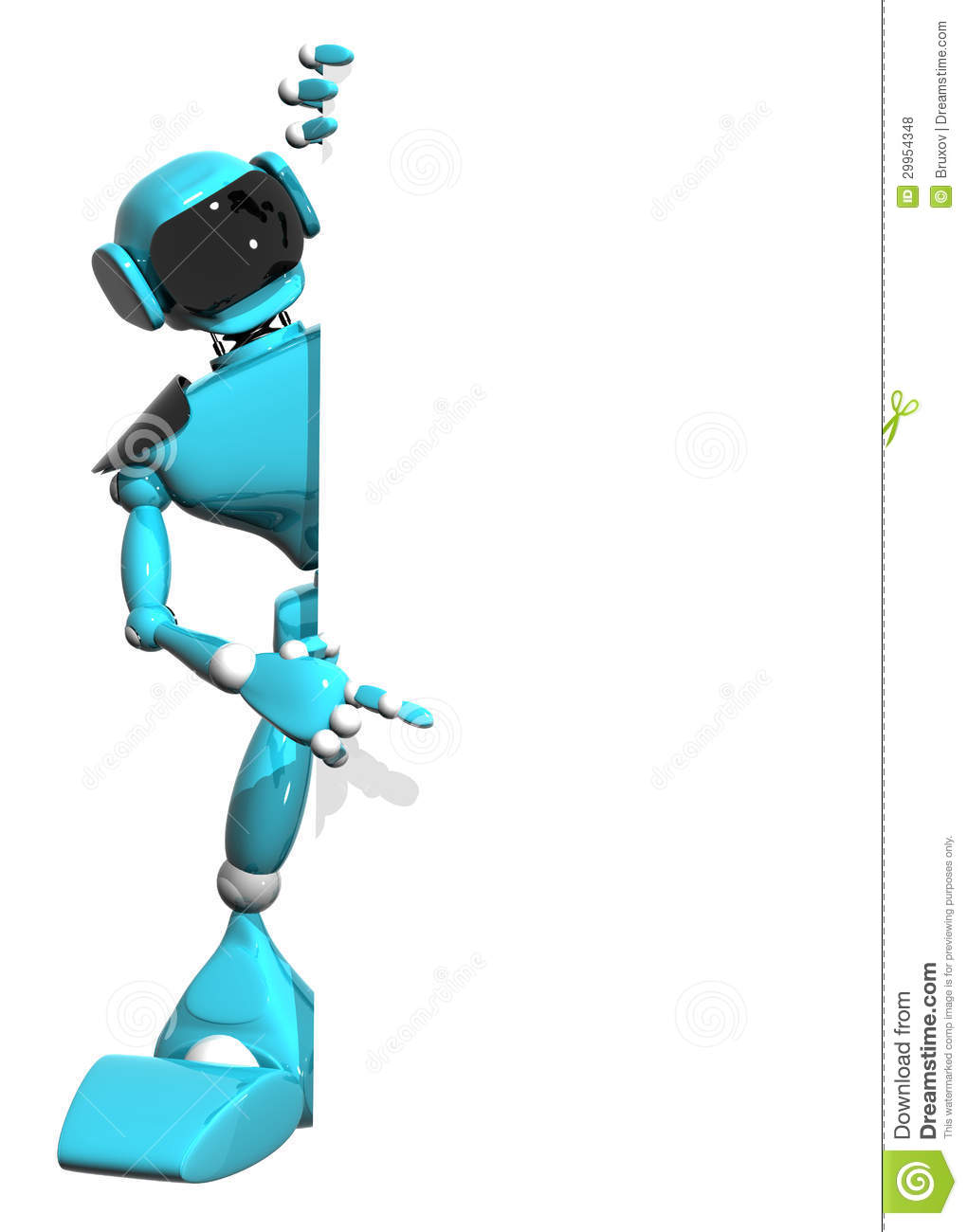 Robot With A White Background Royalty Free Stock Photos