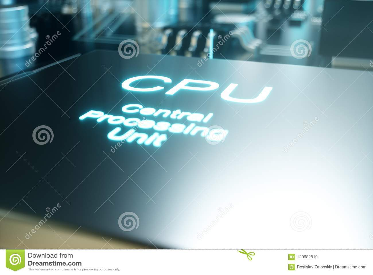 3d Illustration Computer Chip A Processor On Printed Circuit Pcb The Printedcircuitboard Royalty Free Stock Photography Photo Board Concept Of