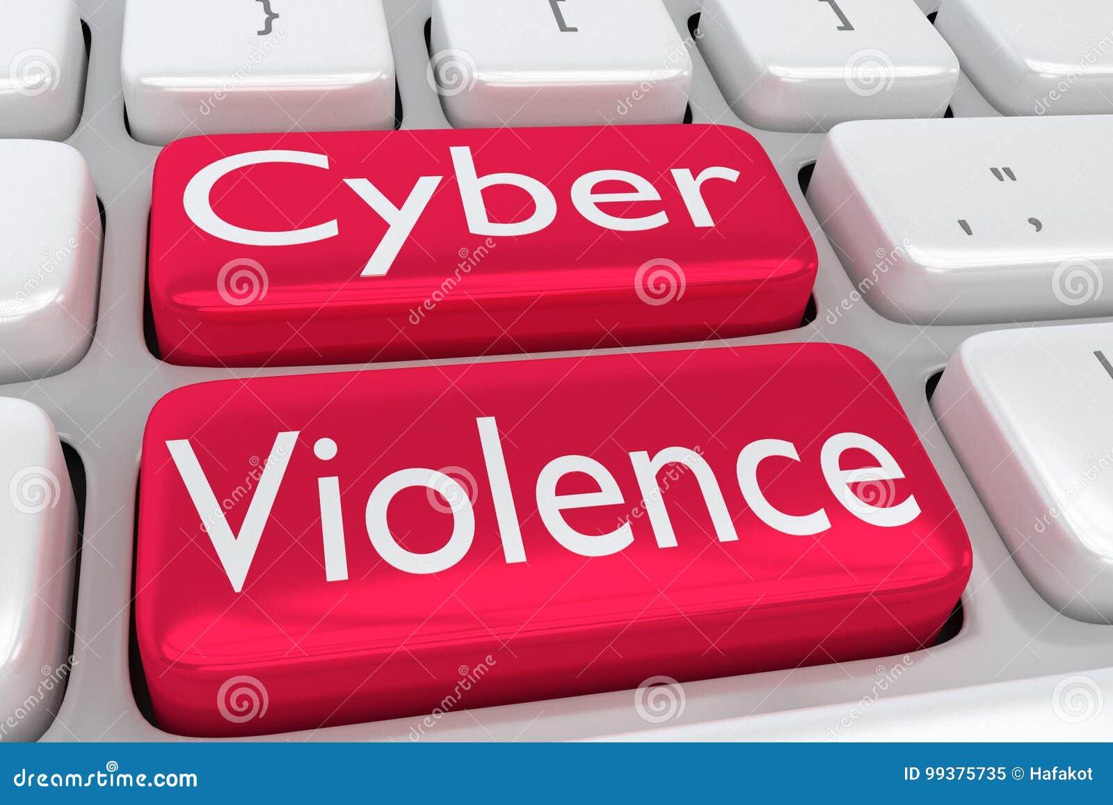 cyber violence_Cyber Violence concept stock illustration. Illustration of crisis - 99375735