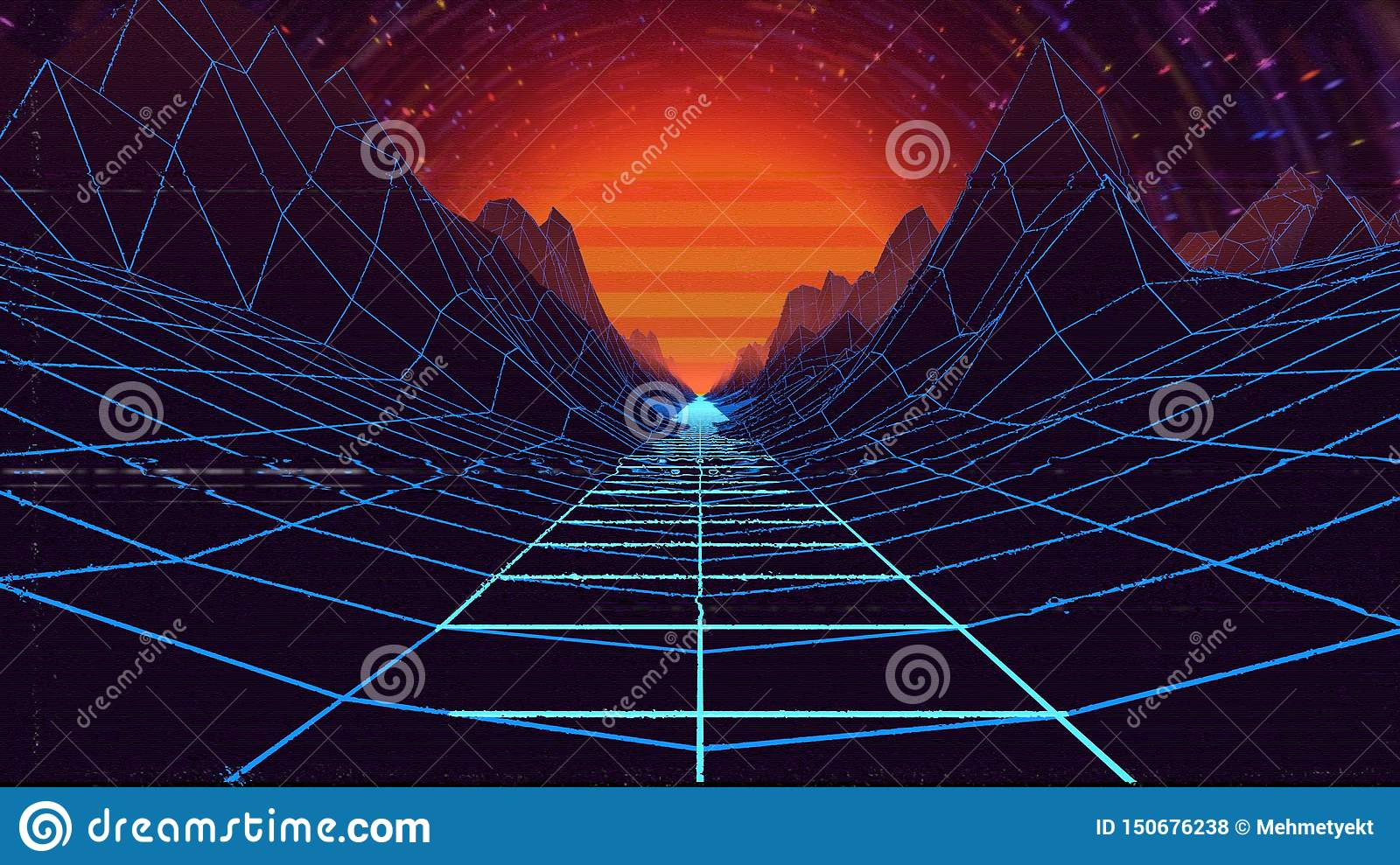 3d illustration of a country moving independently of time and space