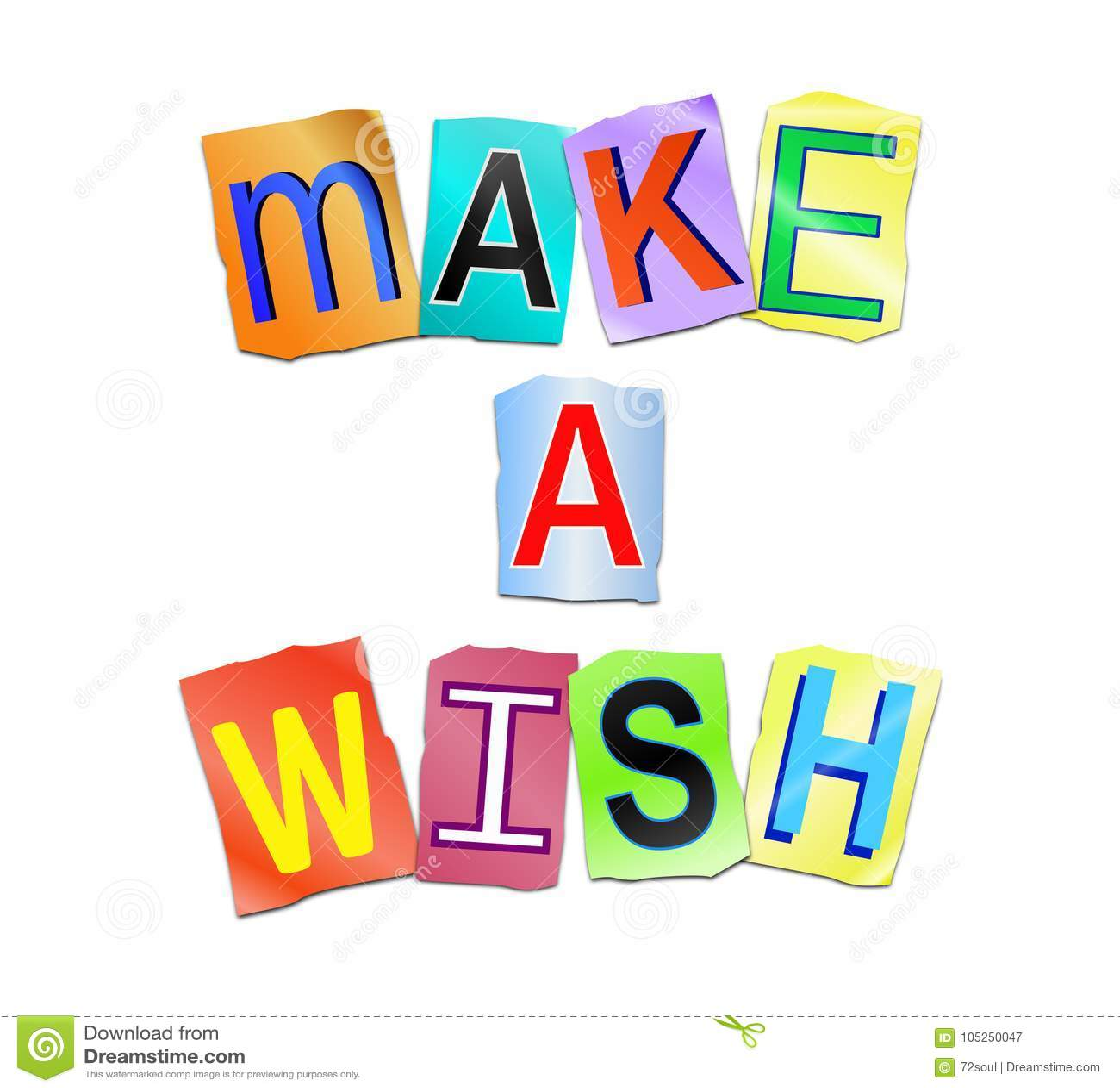 Make a wish concept  stock illustration  Illustration of