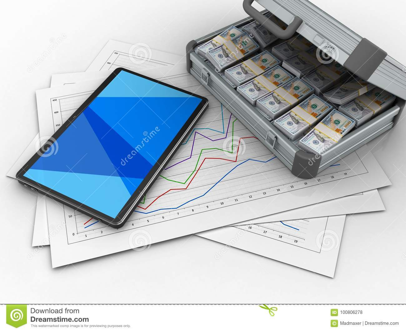 d illustration diagram papers tablet computer over white background case d blank 100806278 3d blank stock illustration illustration of blue, heap 100806278