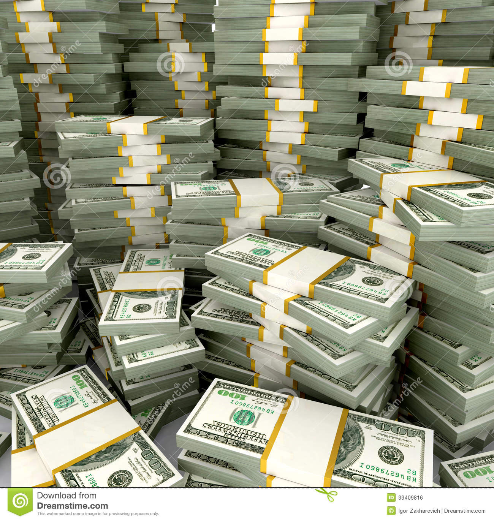 3d illustration of dollars stack stock illustration for 100000 dollar house