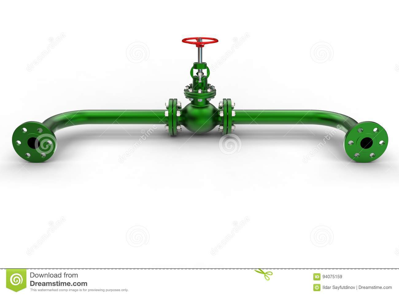 3d Illustration Of Gas Valve Stock Illustration Illustration Of