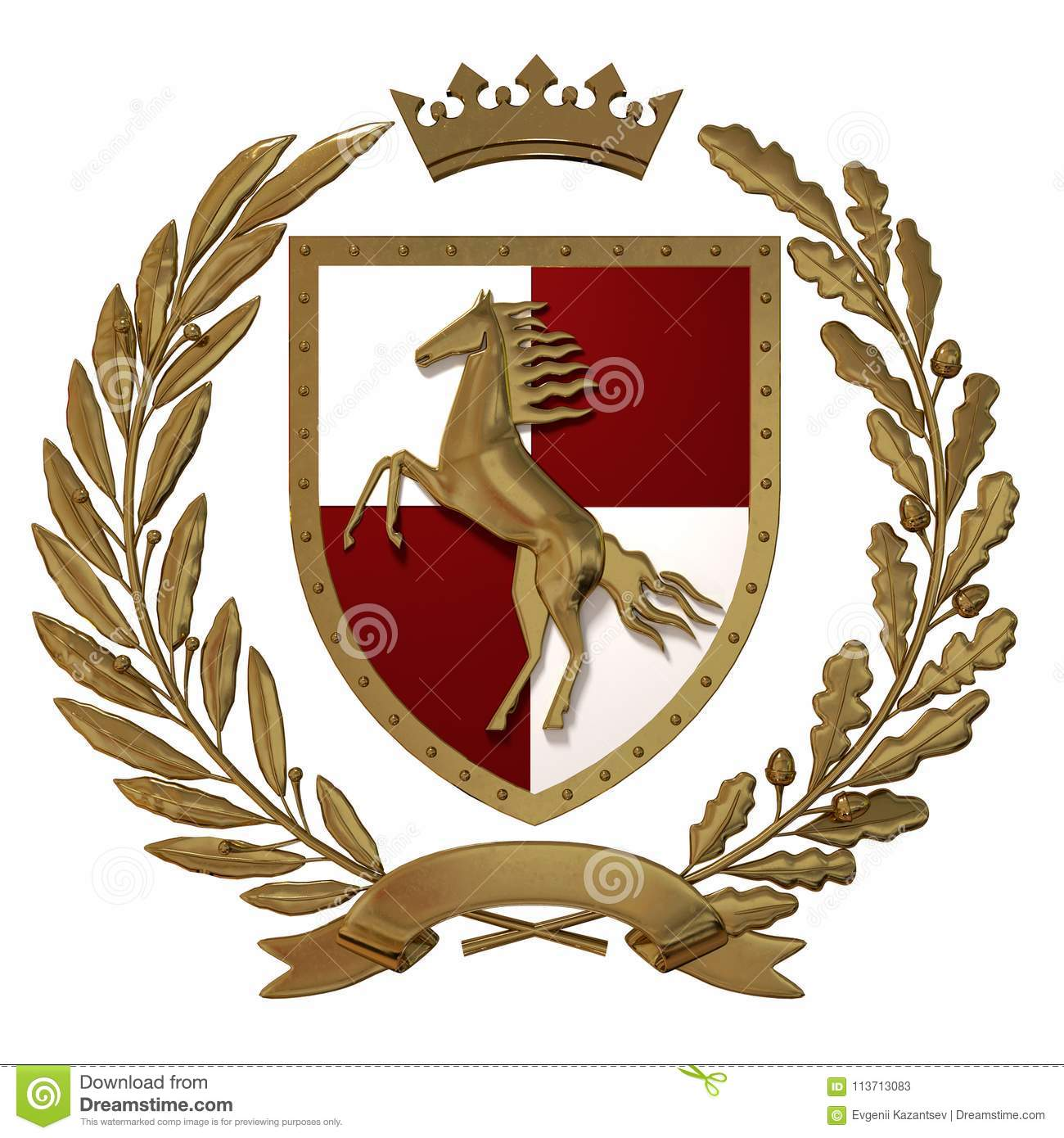 symbols coat of arms and horse racing