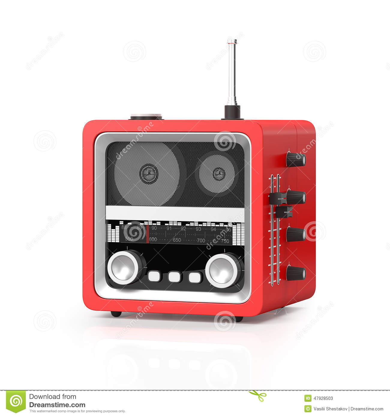 3d Illustration: Modern Rap Radio On A White Background