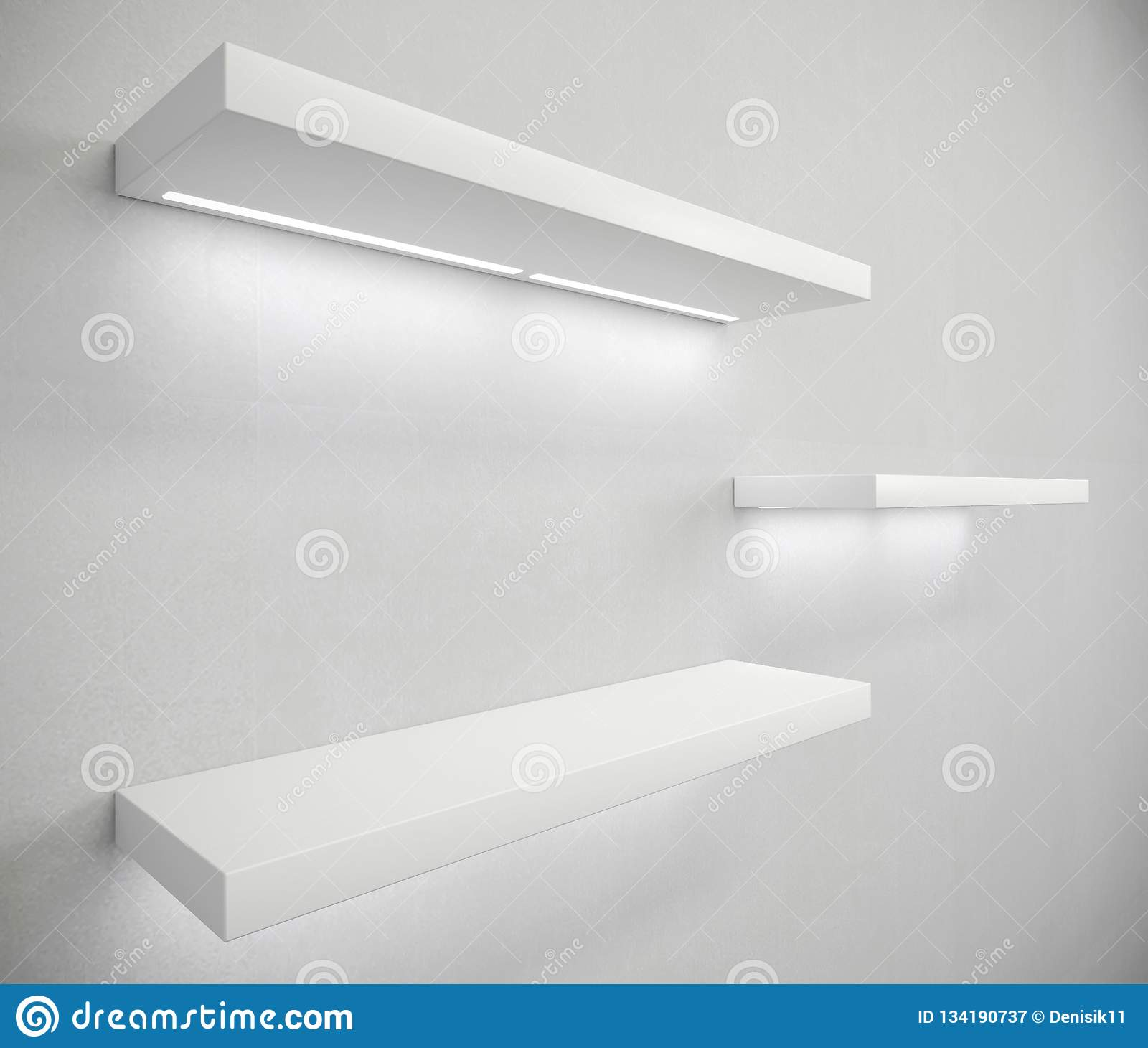 Furniture White Shelves For Home Or Shop Stock