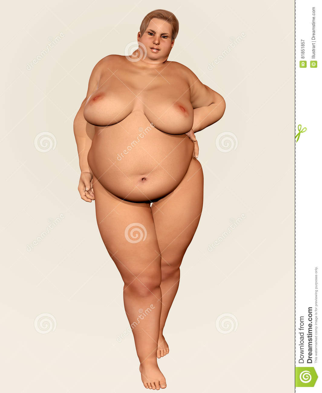 Naked overweight