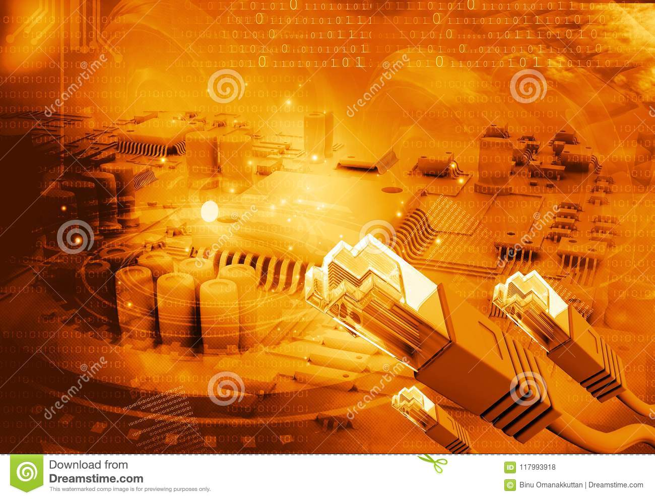 Network Cable On Circuit Board Stock Photo Image Of Schematic Download Modern 117993918