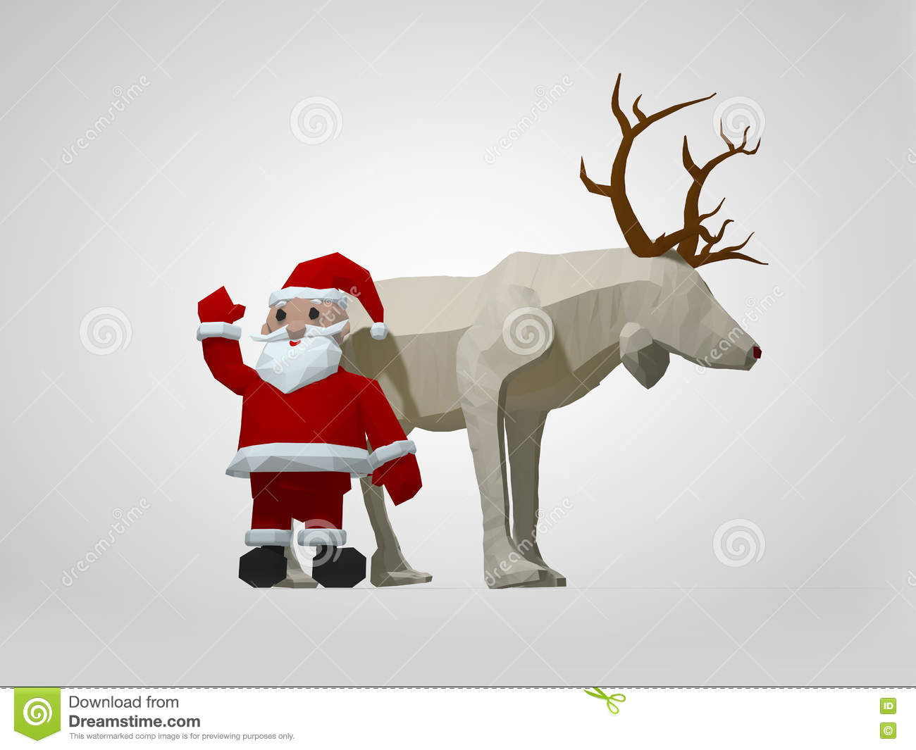 Holiday Origami Diagram Wiring Diagrams Christmas 3d Illustration Of Reindeer And Santa Complex Advanced