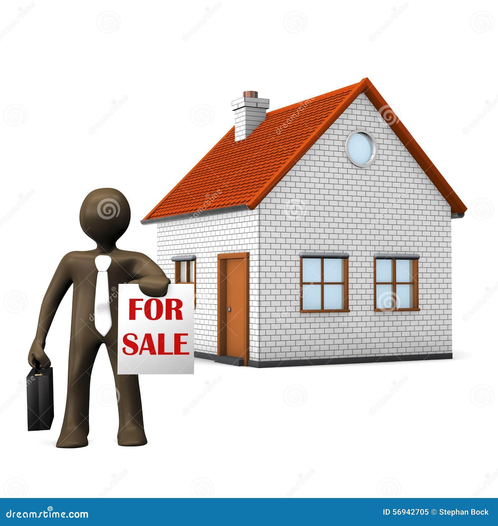 3d illustration personnage de dessin anim agent for Com agent immobilier