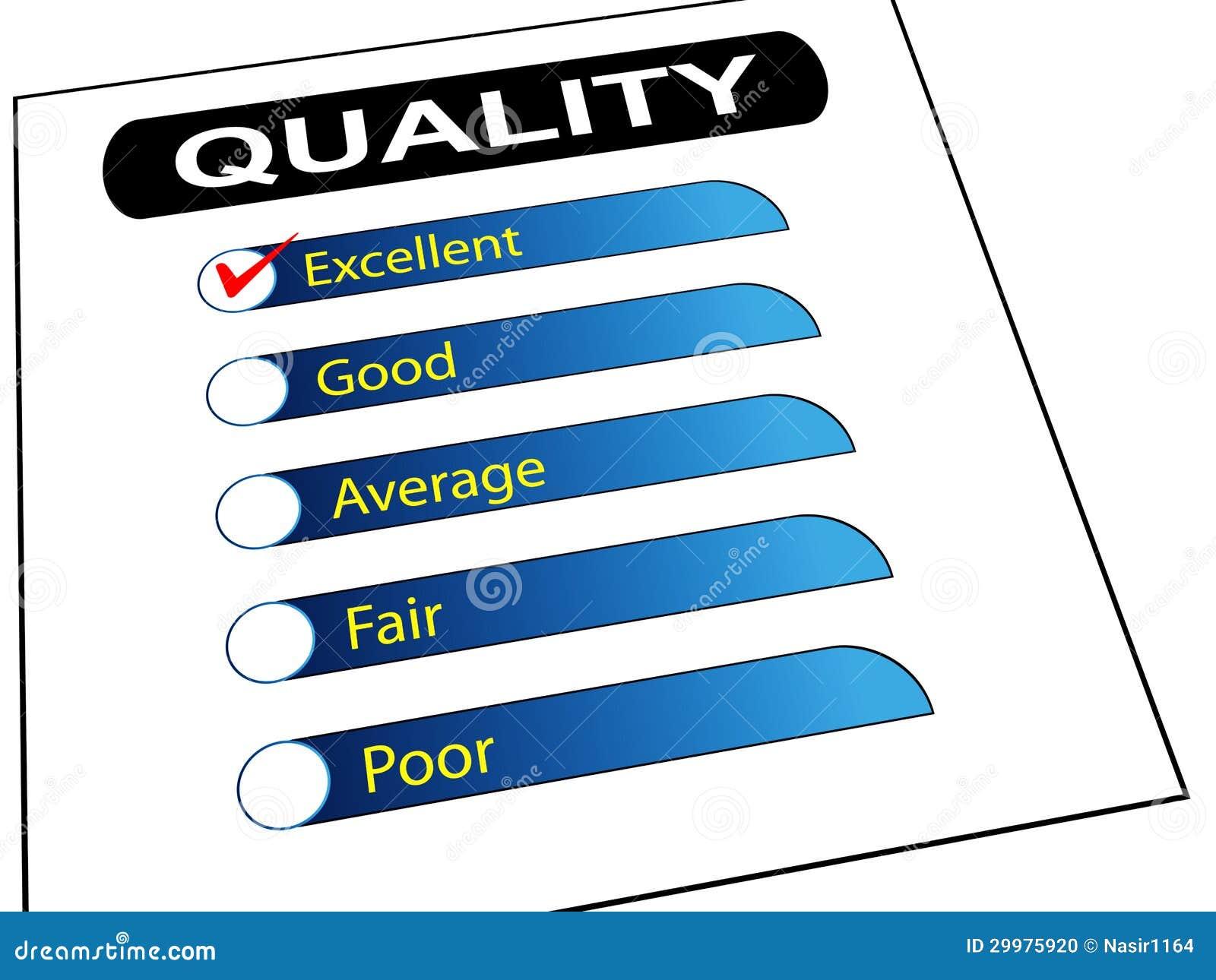 Quality Survey Report Check List Stock Photo - Image: 29975920