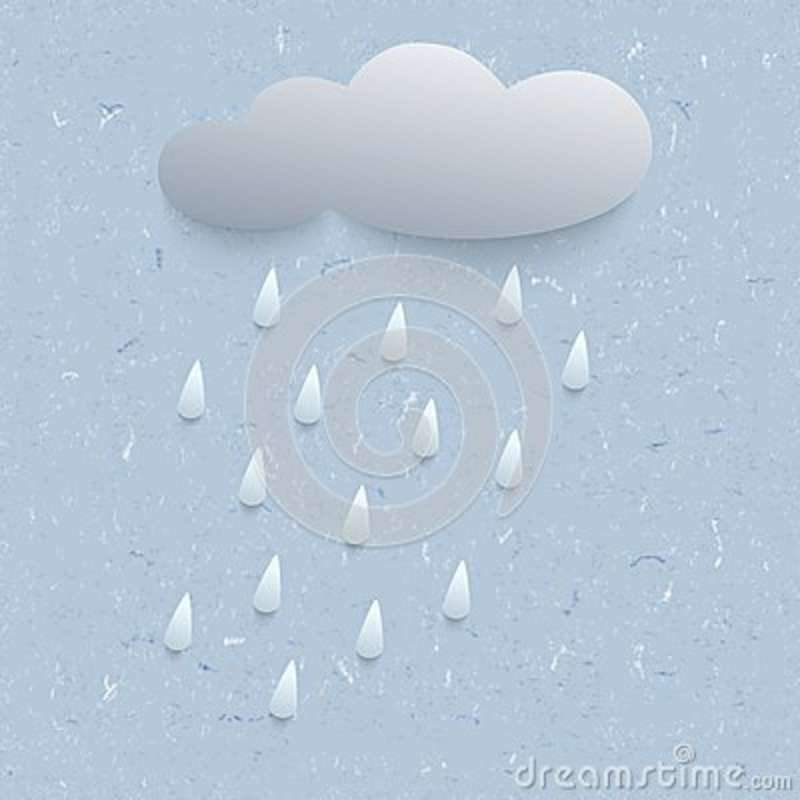 3d illustration with rain and cloud
