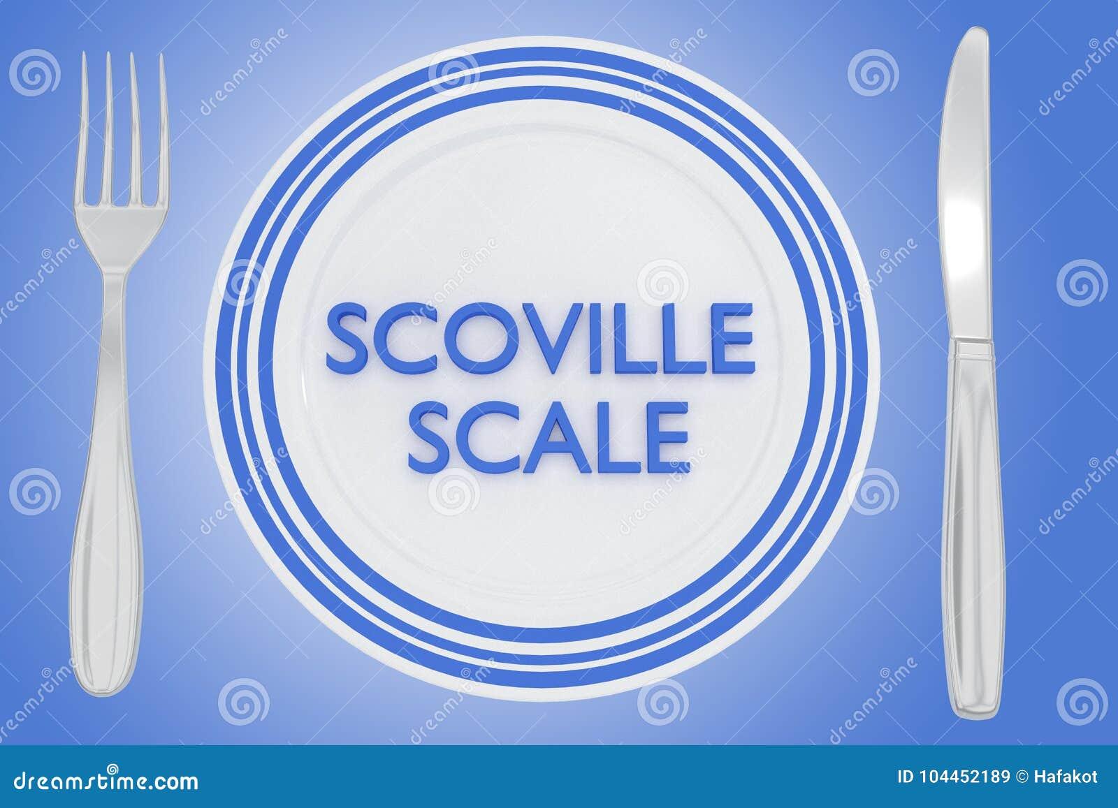 Scoville Scale concept stock illustration  Illustration of