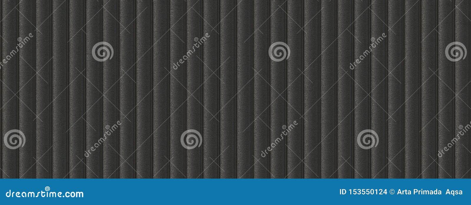 3d illustration sofa leather black seamless background