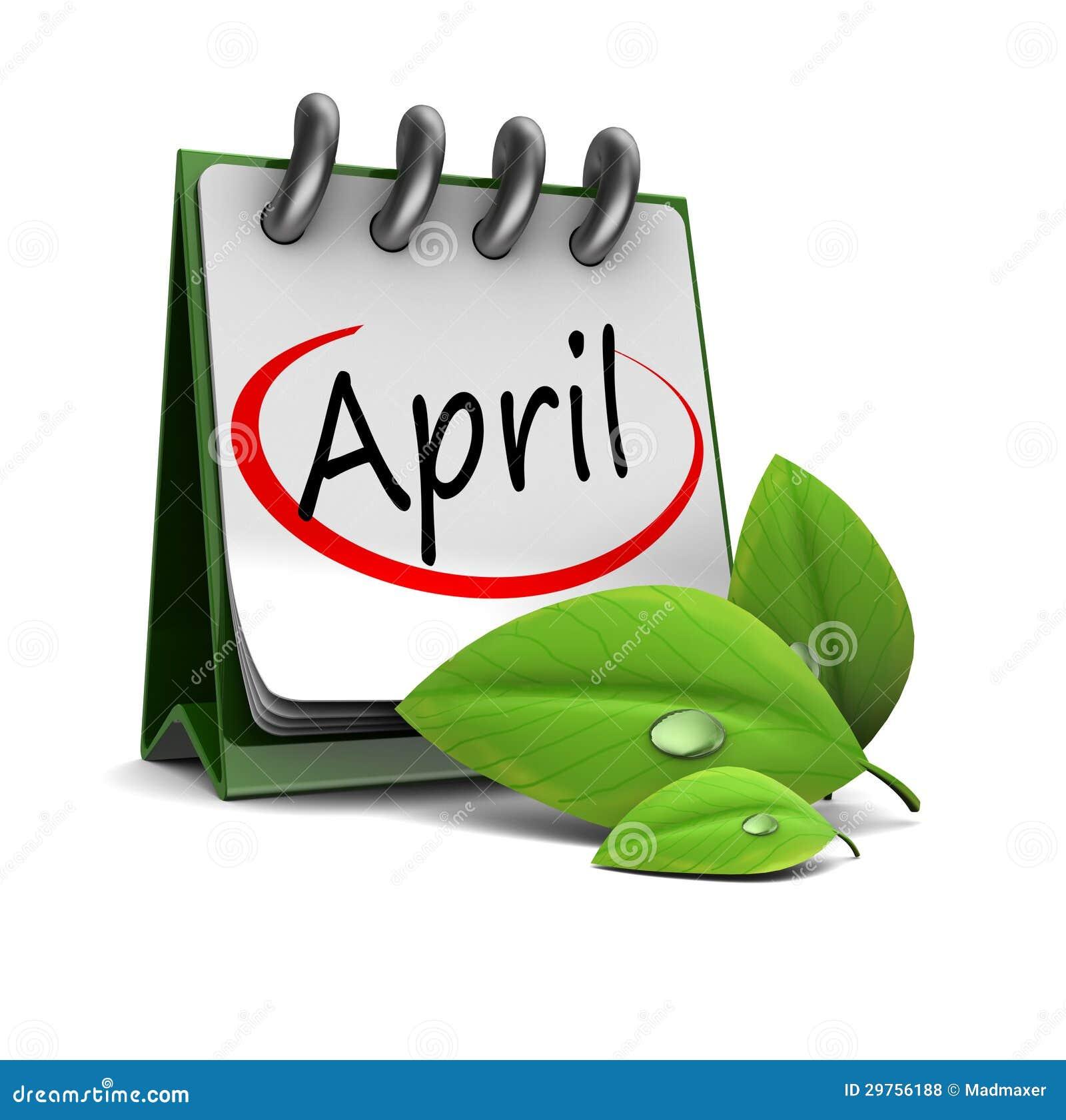 April Calendar Illustration : April calendar royalty free stock photos image