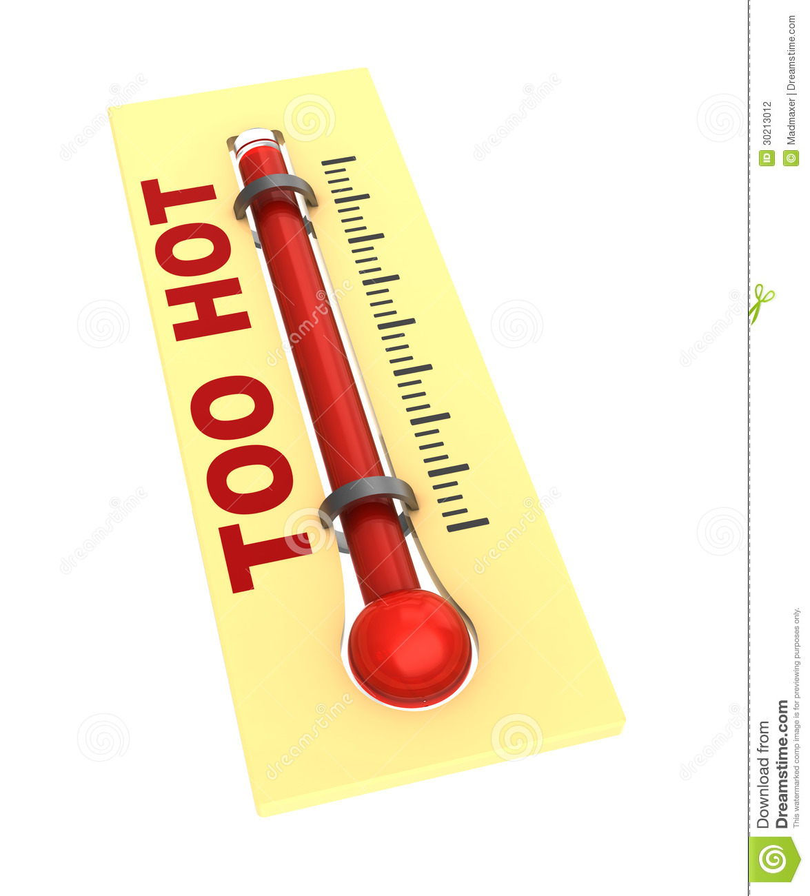 Thermometer With Hot Temperature Stock Photography - Image: 30213012