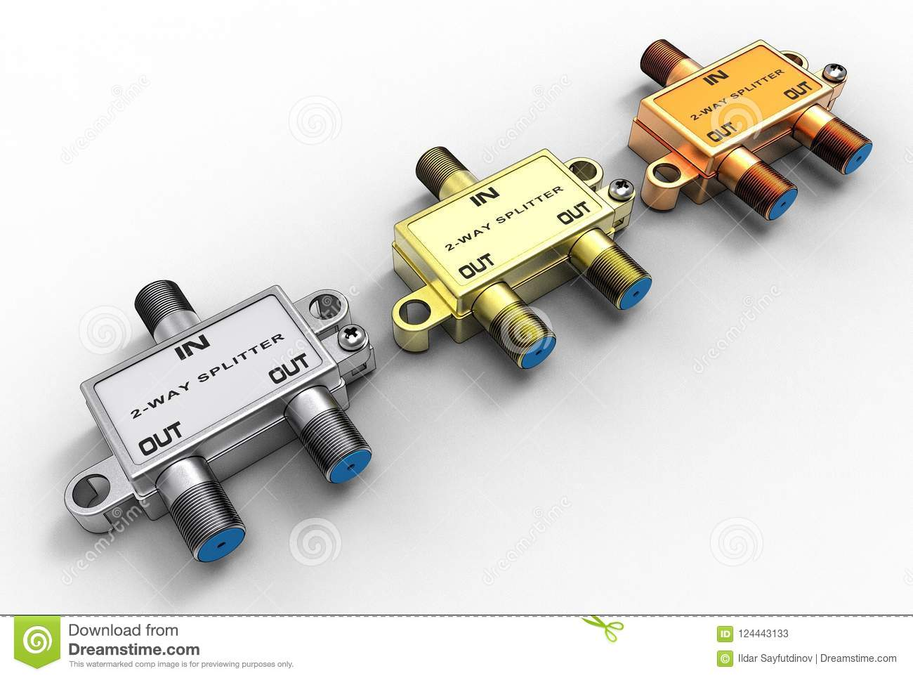 Cable Splitter Diagram Electrical Wiring Diagrams Cat 5 Tv Schematic Av 3d Illustration Of