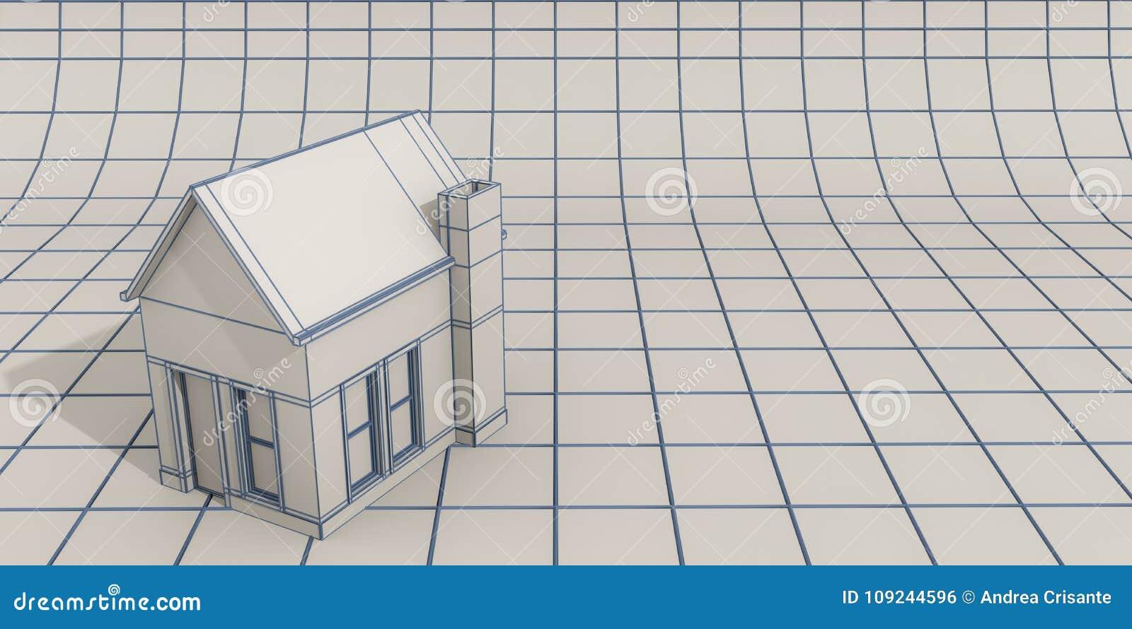 Simple house model stock illustration illustration of construction simple house model ccuart Gallery