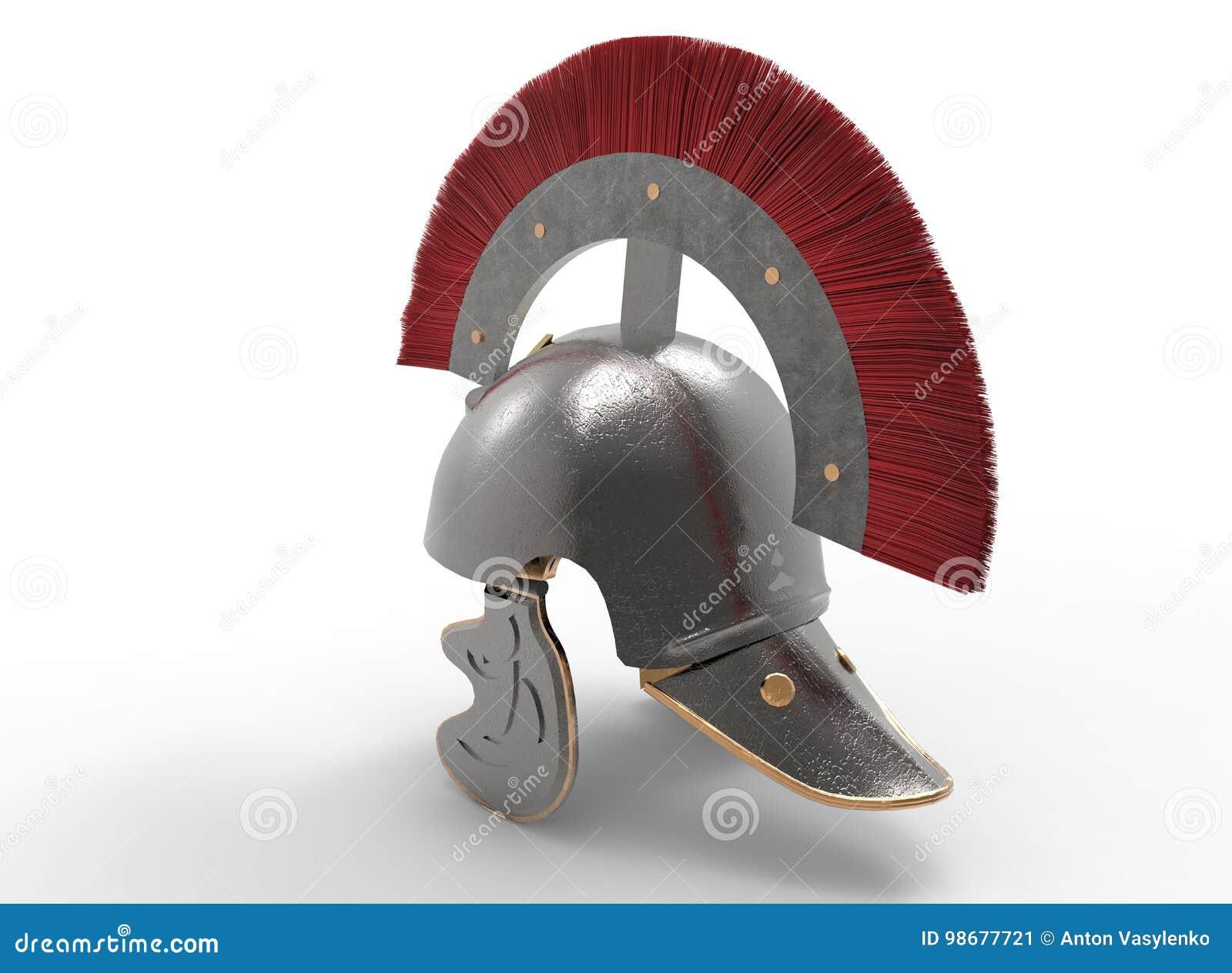 3d ilustracja antyczny rzymski hełm