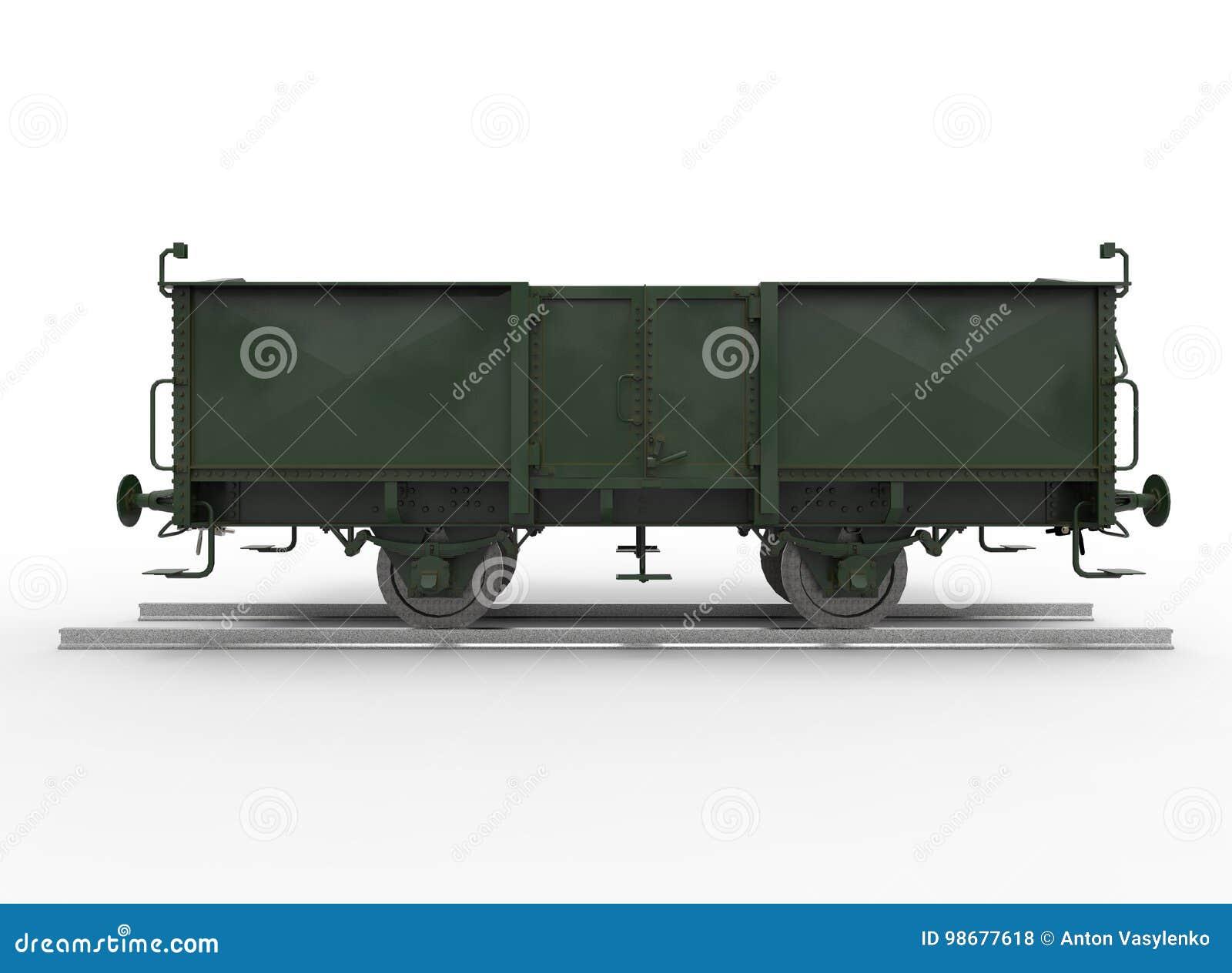 3d ilustracja furgonu pociąg