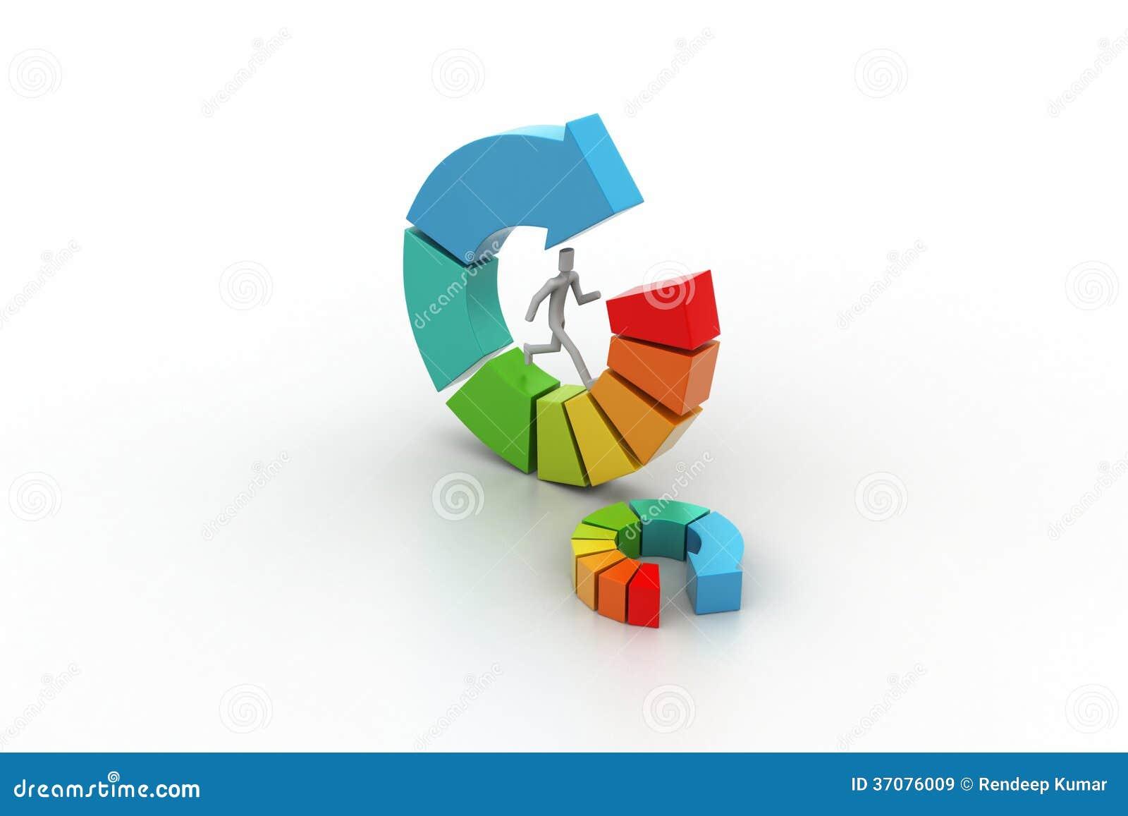 Download 3d Ilustracja Ringowa Kolorowa Biznesowa Mapa Ilustracji - Ilustracja złożonej z wyznaczający, przyrost: 37076009
